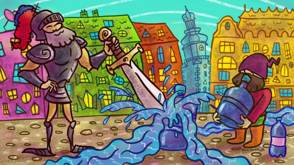 Grafika pre mobilnú hru Bratislava
