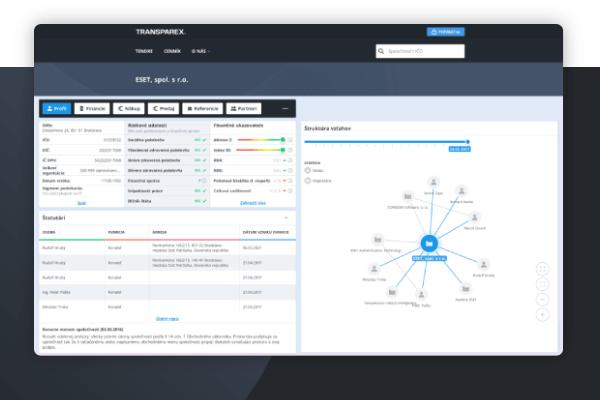 Vytvorili sme portál, ktorý zobrazuje prepojenie firiem, finančné reporty a ekonomické ukazovatele.