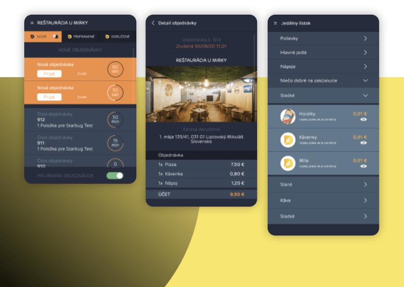 Tabletová mobilná aplikácia pre reštauračné zariadenia. Vytvorenie projektu pre donáškovú službu Dones.to.
