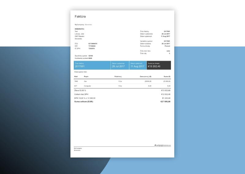 Generovanie PDF faktúr prebieha priamo v Android a iOS aplikácii