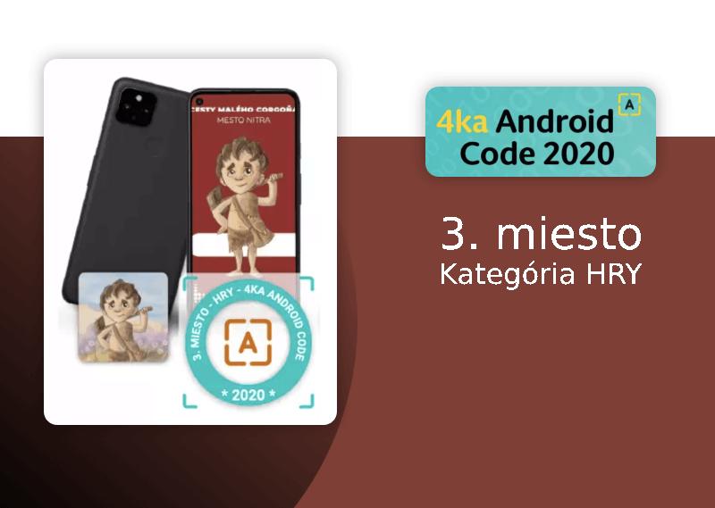 Android Code 2020. Naša aplikácia vyhrala 3. miesto v kategórii HRY